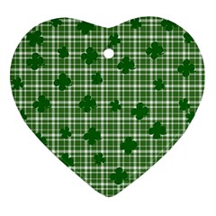 St  Patrick s Day Pattern Ornament (heart) by Valentinaart