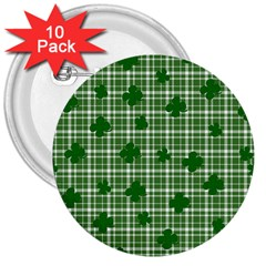 St  Patrick s Day Pattern 3  Buttons (10 Pack)  by Valentinaart