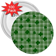 St  Patrick s Day Pattern 3  Buttons (100 Pack)  by Valentinaart