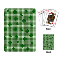 St  Patrick s Day Pattern Playing Card by Valentinaart