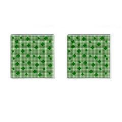 St  Patrick s Day Pattern Cufflinks (square) by Valentinaart