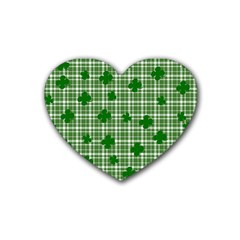 St  Patrick s Day Pattern Heart Coaster (4 Pack)  by Valentinaart