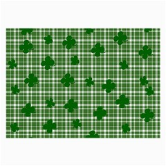St  Patrick s Day Pattern Large Glasses Cloth by Valentinaart