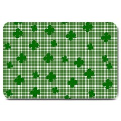 St  Patrick s Day Pattern Large Doormat  by Valentinaart