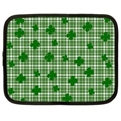 St  Patrick s Day Pattern Netbook Case (large) by Valentinaart