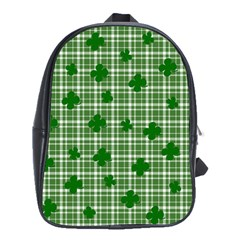 St  Patrick s Day Pattern School Bags(large)  by Valentinaart