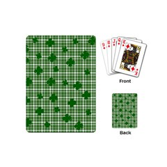 St  Patrick s Day Pattern Playing Cards (mini)  by Valentinaart