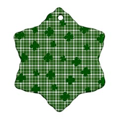 St  Patrick s Day Pattern Snowflake Ornament (two Sides) by Valentinaart