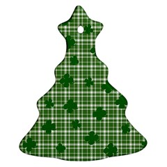 St  Patrick s Day Pattern Christmas Tree Ornament (two Sides) by Valentinaart