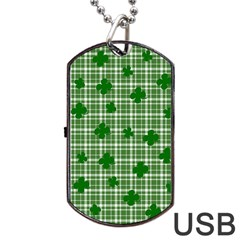 St  Patrick s Day Pattern Dog Tag Usb Flash (one Side) by Valentinaart
