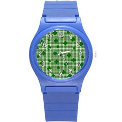 St  Patrick s Day Pattern Round Plastic Sport Watch (s) by Valentinaart