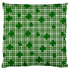 St  Patrick s Day Pattern Large Cushion Case (one Side) by Valentinaart
