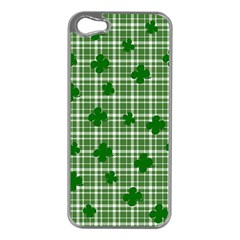 St  Patrick s Day Pattern Apple Iphone 5 Case (silver) by Valentinaart