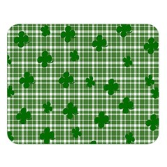 St  Patrick s Day Pattern Double Sided Flano Blanket (large)  by Valentinaart