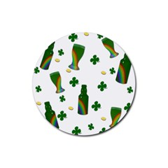 St  Patricks Day  Rubber Coaster (round)  by Valentinaart