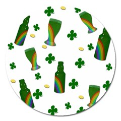 St  Patricks Day  Magnet 5  (round) by Valentinaart