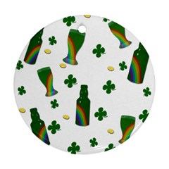 St  Patricks Day  Round Ornament (two Sides) by Valentinaart