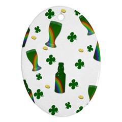 St  Patricks Day  Oval Ornament (two Sides) by Valentinaart