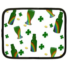 St  Patricks Day  Netbook Case (xl)  by Valentinaart