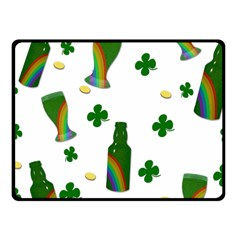 St  Patricks Day  Fleece Blanket (small) by Valentinaart