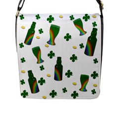 St  Patricks Day  Flap Messenger Bag (l)  by Valentinaart
