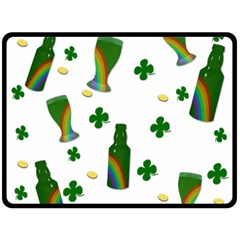 St  Patricks Day  Double Sided Fleece Blanket (large)  by Valentinaart