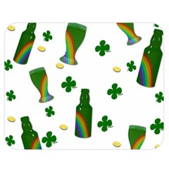 St  Patricks Day  Double Sided Flano Blanket (medium)  by Valentinaart