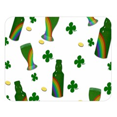 St  Patricks Day  Double Sided Flano Blanket (large)  by Valentinaart