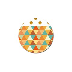 Golden Dots And Triangles Pattern Golf Ball Marker (4 Pack) by TastefulDesigns