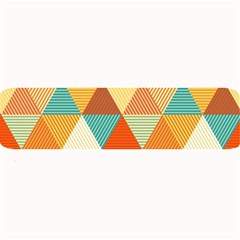 Golden dots and triangles pattern Large Bar Mats