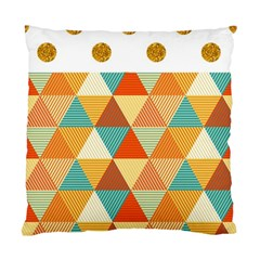 Golden Dots And Triangles Pattern Standard Cushion Case (two Sides) by TastefulDesigns