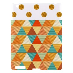 Golden Dots And Triangles Pattern Apple Ipad 3/4 Hardshell Case by TastefulDesigns