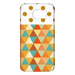 Golden Dots And Triangles Pattern Galaxy S6 by TastefulDesigns