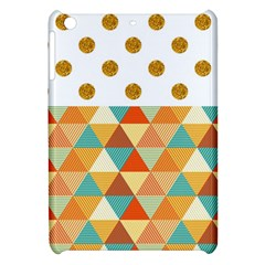 Golden Dots And Triangles Patern Apple Ipad Mini Hardshell Case by TastefulDesigns