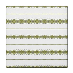Ethnic Floral Stripes Tile Coasters by dflcprints