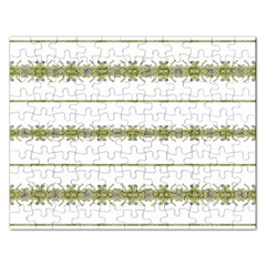 Ethnic Floral Stripes Rectangular Jigsaw Puzzl by dflcprints