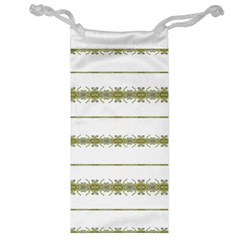 Ethnic Floral Stripes Jewelry Bag by dflcprints