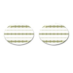 Ethnic Floral Stripes Cufflinks (oval) by dflcprints