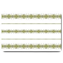 Ethnic Floral Stripes Large Doormat  by dflcprints