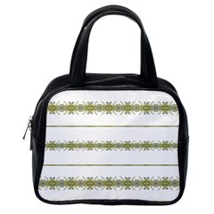 Ethnic Floral Stripes Classic Handbags (one Side) by dflcprints