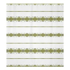 Ethnic Floral Stripes Shower Curtain 66  X 72  (large)  by dflcprints