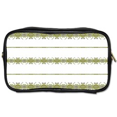 Ethnic Floral Stripes Toiletries Bags 2 Side by dflcprints