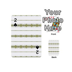 Ethnic Floral Stripes Playing Cards 54 (mini)  by dflcprints