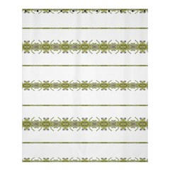 Ethnic Floral Stripes Shower Curtain 60  X 72  (medium)  by dflcprints