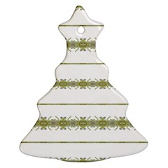Ethnic Floral Stripes Ornament (christmas Tree)  by dflcprints
