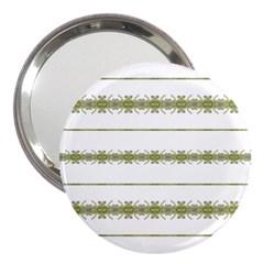 Ethnic Floral Stripes 3  Handbag Mirrors by dflcprints