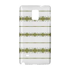 Ethnic Floral Stripes Samsung Galaxy Note 4 Hardshell Case by dflcprints