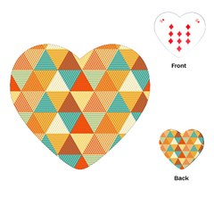 Triangles Pattern  Playing Cards (heart)  by TastefulDesigns