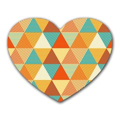 Triangles Pattern  Heart Mousepads by TastefulDesigns