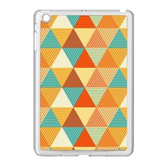 Triangles Pattern  Apple Ipad Mini Case (white) by TastefulDesigns